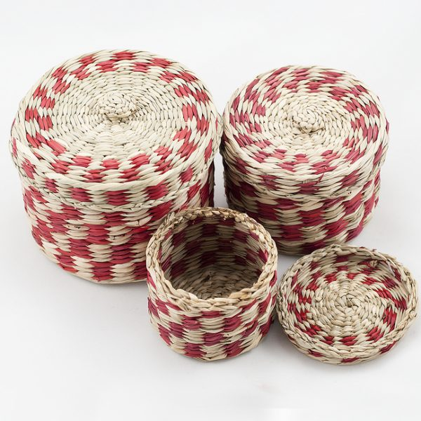 Set of twined baskets
